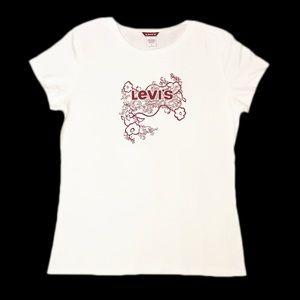 ✨NWOT✨Levi's White Short Sleeve T-Shirt